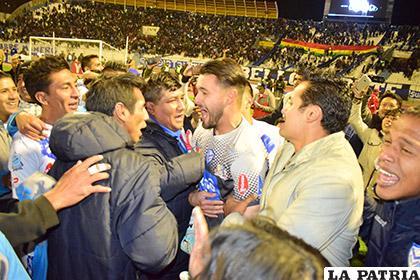 Al final del partido el portero Carlos Franco fue el más ovacionado