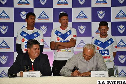 Mario Cuéllar, Marcos Barrera y Marcelo Gomes representaron al primer plantel