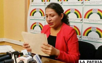 Ariana Campero, ministra de Salud /erbol.com.bo