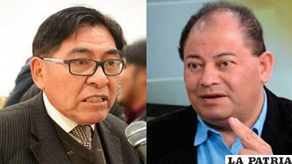 El rector de la UPEA, Ricardo Nogales (Izq.), cuestionó la versión que hizo conocer el ministro Carlos Romero (Der.) /ERBOL
