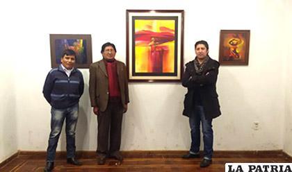 Efraín Chambi, Finelez Llanque y Saúl Rivera