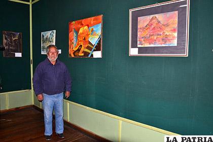 Jaime Miranda, muestra su trayectoria artística a través de sus obras