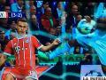 El momento en que Marcelo toca el balón con la mano