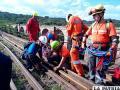 Los rescatistas se aprestan a realizar sus prácticas /SAR Bolivia