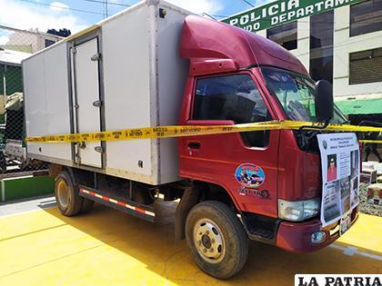 Vehículo en el que se transportaba la droga secuestrada /LA PATRIA