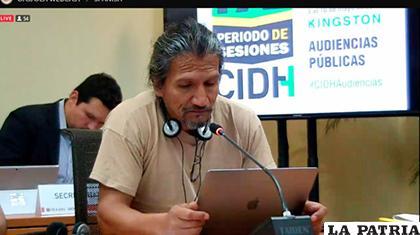 El investigador Pablo Villegas participó en la audiencia sobre