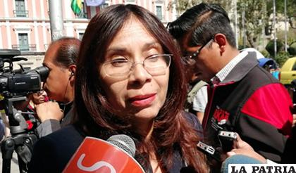 La diputada opositora Lourdes Millares cuestionó los operativos de lucha contra el narcotráfico en el país / ANF