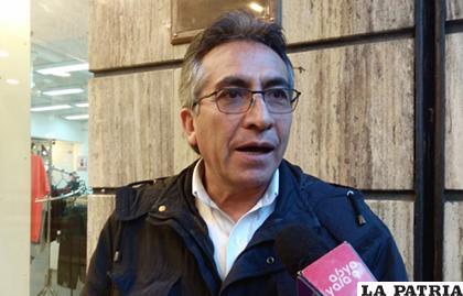 El asambleísta departamental del MAS, Gustavo Torrico/ANF