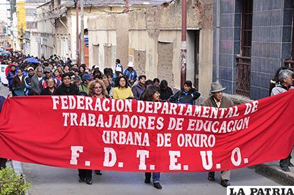 Maestros de todo el país se movilizarán simultáneamente/LA PATRIA/ARCHIVO