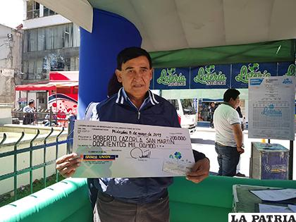 El ganador de los 200 mil bolivianos todavía no tiene pensado qué hacer con lo ganado/ LA PATRIA
