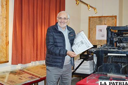 Carlos Mesa visitó LA PATRIA, donde dio una entrevista y respondió preguntas de la gente /LA PATRIA