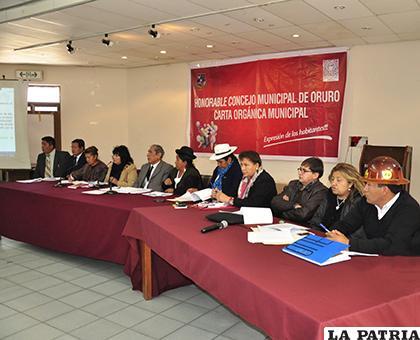 Los concejales tienen la meta de concluir la Carta Orgánica esta gestión /LA PATRIA/ARCHIVO