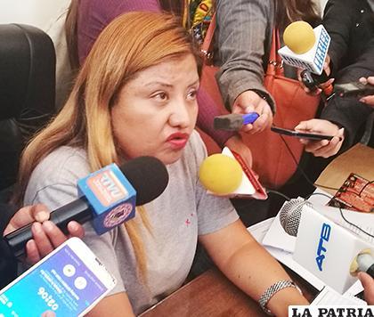 La concejal Villca descarta ser candidata a senadora /LA PATRIA
