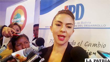 Mariana Prado, ministra de Planificación del Desarrollo /ANF