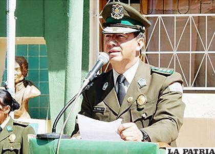 Rommel Raña, excomandante departamental de Policía /LA PATRIA