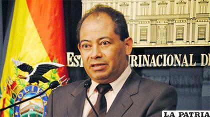 Carlos Romero, Ministro de Gobierno  /Archivo/ANF