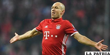 El holandés Arjen Robben jugador del Bayern /cronicaviva.com