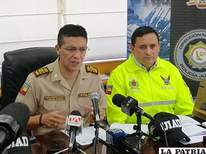 Según la policía ecuatoriana los operativos se realizaron en las provincias de Manabí, Santo Domingo de los Tsáchilas y El Oro /La Hora