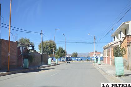 El pasaje colindante al Complejo Fabril /LA PATRIA