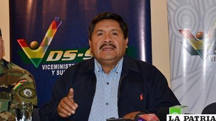 Viceministro de Defensa Social y Sustancias Controladas, Felipe Cáceres /ARCHIVO ERBOL