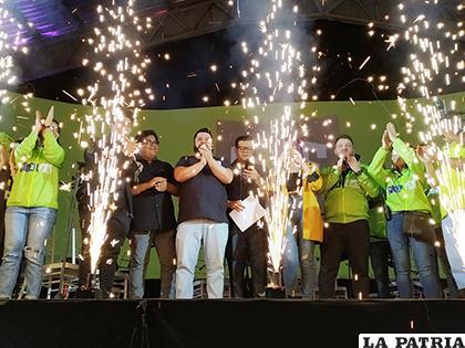 Lanzamiento de la primera Liga VIVA E-sports, en el campo ferial Chuquiago Marka /VIVA