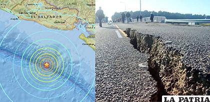 El temblor, causó cuatro derrumbes de