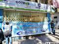 Momento del cierre de oficinas de Coteor por parte de los trabajadores /LA PATRIA
