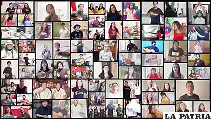Varios seguidores de Los Kjarkas aparecen en el videoclip /Los Kjarkas /Facebook