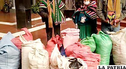 Machacamarca se organiza para más donaciones de alimentos /CAPTURA DE VIDEO