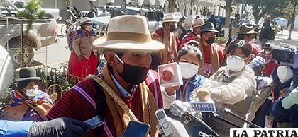 Ejecutivo de la Central Única de Trabajadores Campesinos de Tomas Barrón, Osvaldo Santos Lovera /LA PATRIA
