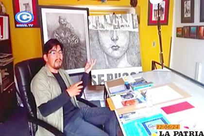 Luis Mora enseñó dibujo y pintura en la primera semana /Cadena Coral Bolivia /Facebook