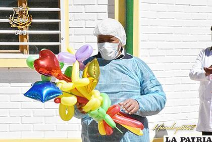 En la ciudad fueron 42 los recuperados, en la fotografía el primer paciente tratado en el Centro de Aislamiento del municipio que superó el virus /GAMO