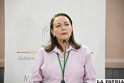 Roca asume el cargo interinamente de ministra, tras la suspensión de Marcelo Navajas /MIN SALUD