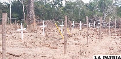 Son casi 200 cruces de las víctimas /Gran Beni /Elvira Ibáñez Paz