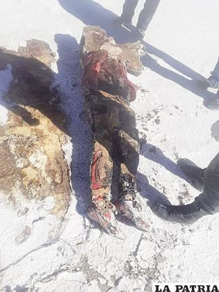 El cadáver fue encontrado por pobladores del lugar /LA PATRIA