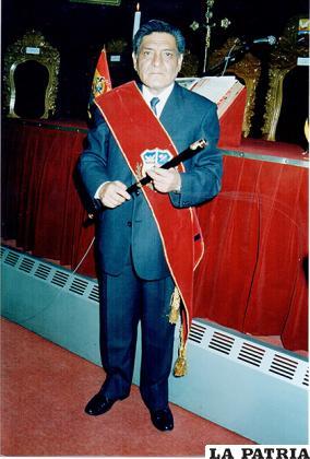 El médico llegó a ser alcalde de la ciudad /LA PATRIA /Archivo