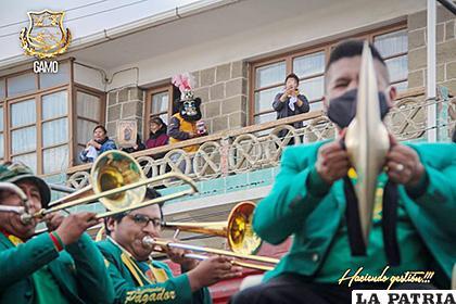 Músicos de banda participaron de la actividad del domingo /Gobierno Autónomo Municipal de Oruro /Facebook
