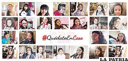 Sociedad Coral Infantil Oruro unió sus voces de manera virtual  /Vannia Miranda
