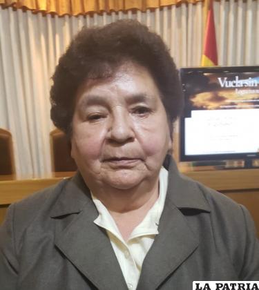 Elvira Valdez presidente de la FEPO /LA PATRIA
