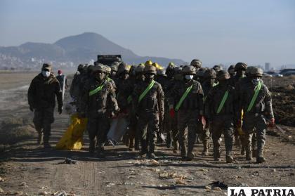 Esta jornada de limpieza fue coadyuvada por el Ejército /LA PATRIA
