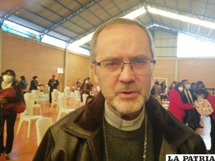 Obispo de la Diócesis de Oruro Monseñor Cristóbal Bialasik /LA PATRIA