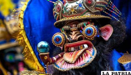 Moreno en el Carnaval de Oruro, Obra Maestra del Patrimonio Oral e Intangible de la Humanidad /LA PATRIA