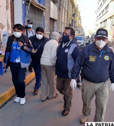 El día que los jueces fueron aprehendidos por funcionarios policiales en coordinación con la Fiscalía /LA PATRIA