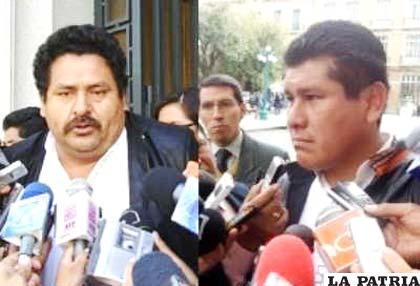 Senadores oficialistas, Fidel Surco e Isaac Ávalos