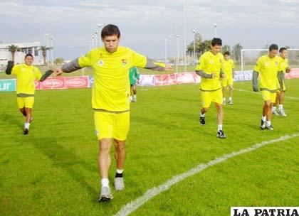 Selección Boliviana en plena sesión de entrenamiento
