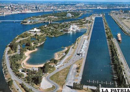 Una vista panorámica del circuito de Montreal - Canadá