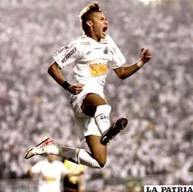 Neymar la figura del Santos