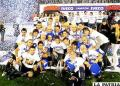 Jugadores de Vélez, festejan el título del Clausura