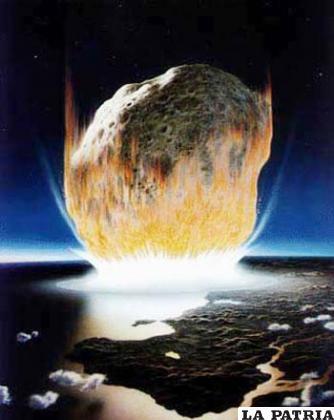 Una de las teorías dice que un gran meteorito terminó con la vida en la Tierra