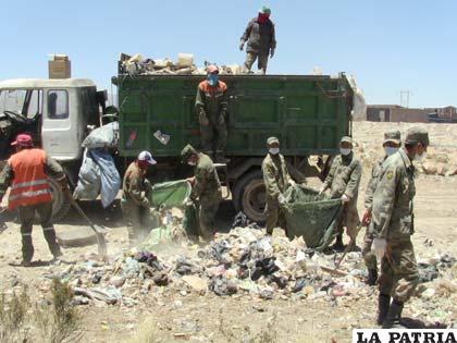 Campaña de limpieza, es apoyada por efectivos militares